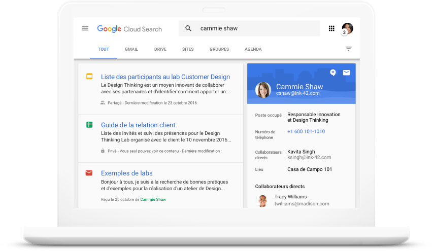 Cloud search sur G Suite (3)