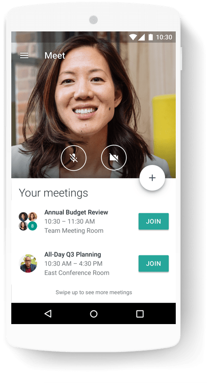Hangouts Meet possède des applications mobiles natives